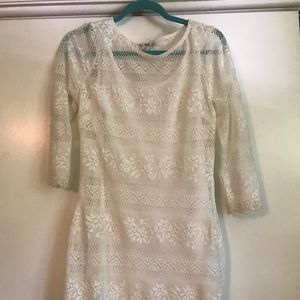 MACY'S BAR III White Lace Dress
